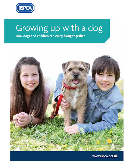 RSPCA growing up with a dog